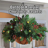 Best Pre Lit Christmas Hanging Baskets with LED Lights Indoor or Outdoor Use
