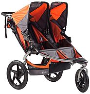 Best Bob Jogging Strollers for Runners | BOB Revolution SE Duallie Stroller, Orange