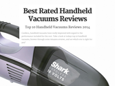 Ten Best Rated Handheld Vacuums Reviews | Best Rated Handheld Vacuums Reviews