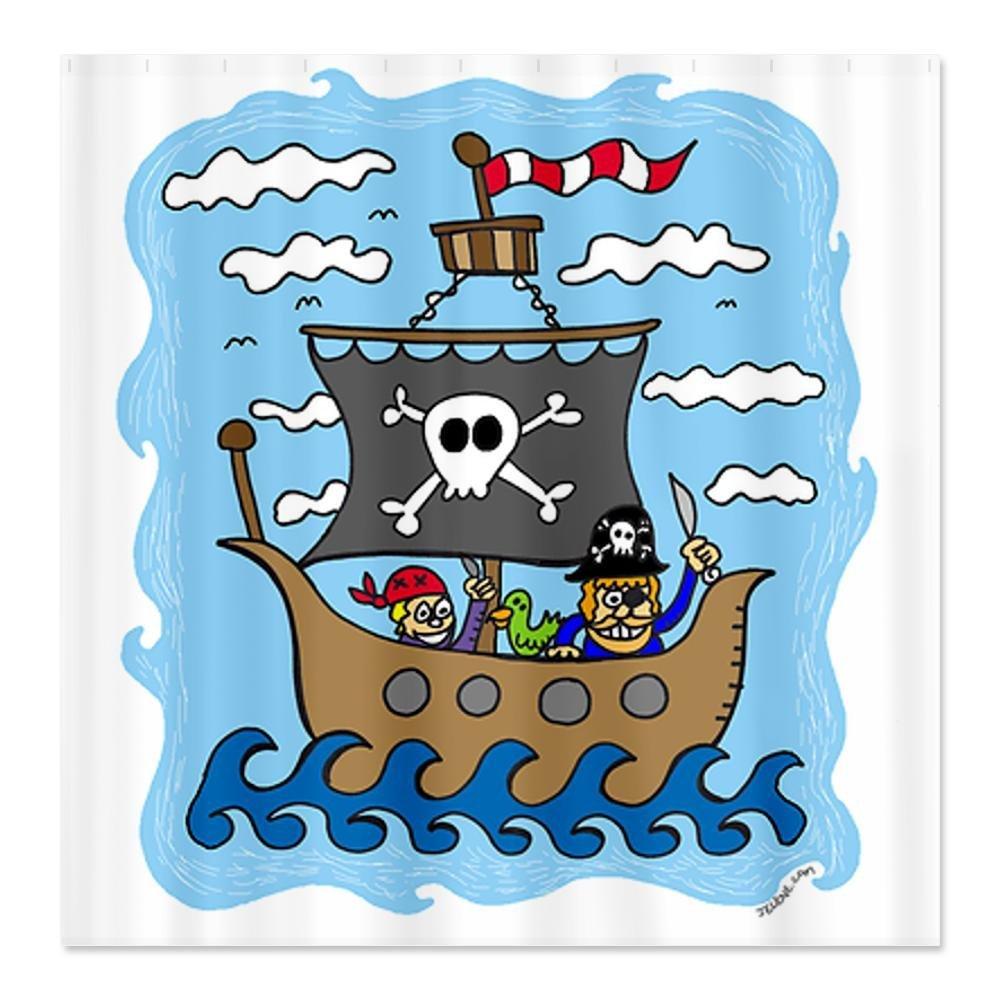 Pirate shower curtain - Headline For Best Kids Pirate Shower Curtain Bathroom Decor Accessories Reviews
