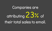Companies are attributing 23% of their total sales to email. via @econsultancy