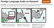 Listening resources for independent English language learners | RhinoSpike : Foreign Language Audio on Demand!