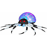 Gemmy Halloween Airblown Inflatable Wide Kaleidoscope Lightshow Spider