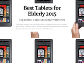 Top 10 Best Rated Tablets for Seniors and Elderly Users | Best Tablets for Elderly 2015