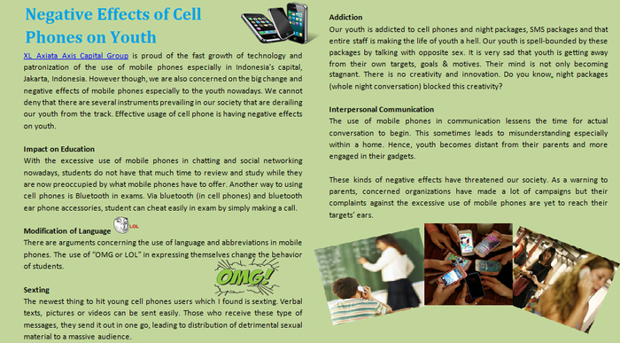 negative effects of cell phone of