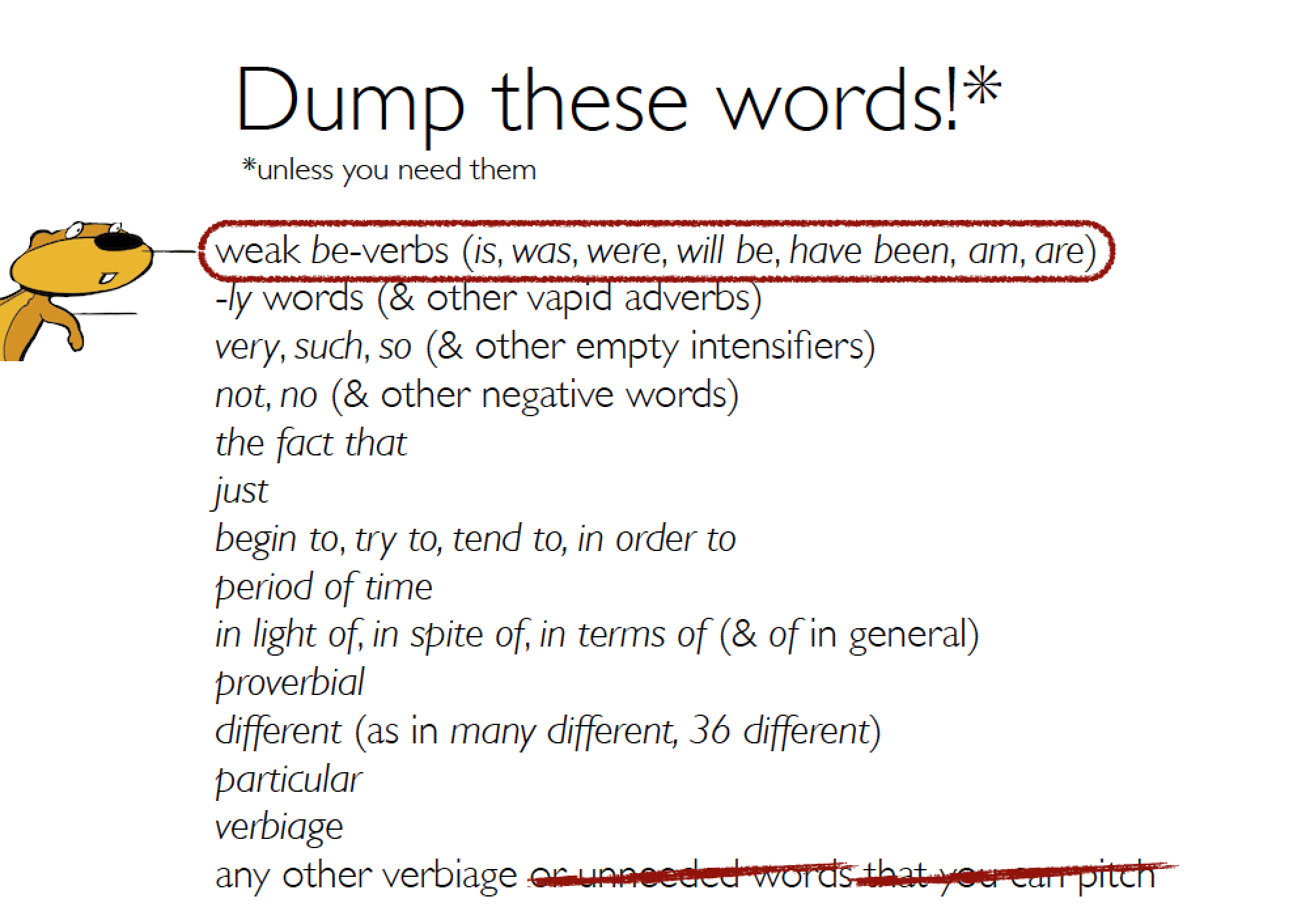 16 Words To Dump For Better More Precise Writing A