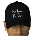 Father of the Bride Embroidered Hat from Zazzle.com