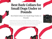 Best Bark Collars for Small Dogs Reviews | Best Bark Collars for Small Dogs Under 10 Pounds