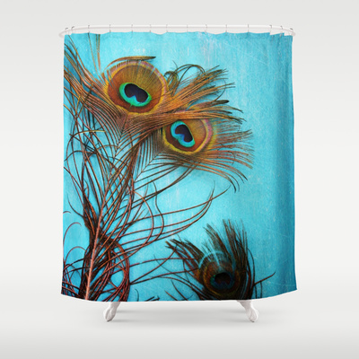 Headline for Stunning Peacock Shower Curtain - Peacock Feather and Bird