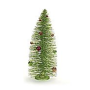 Melrose International Red and Green Bottle Brush Tree with Ornaments