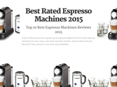 Top 10 Best Rated Home Espresso Machines 2016-2017 Reviews | Best Rated Espresso Machines 2015