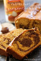 Fall special : Delicious recipes with pumpkin! | Nutella swirl pumpkin bread