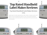Best Rated Handheld Label Makers | Top Rated Handheld Label Maker Reviews