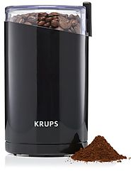 Best Manual Coffee Grinder | KRUPS F203 Electric Spice and Coffee Grinder with Stainless Steel Blades, Black