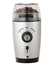 Best Manual Coffee Grinder | Hamilton Beach 80365 Custom Grind Hands-Free Coffee Grinder, Platinum