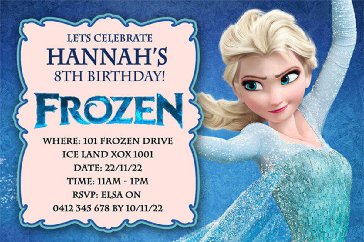Headline for Best Selection of Frozen Personalized Birthday Invitations 2014-2015
