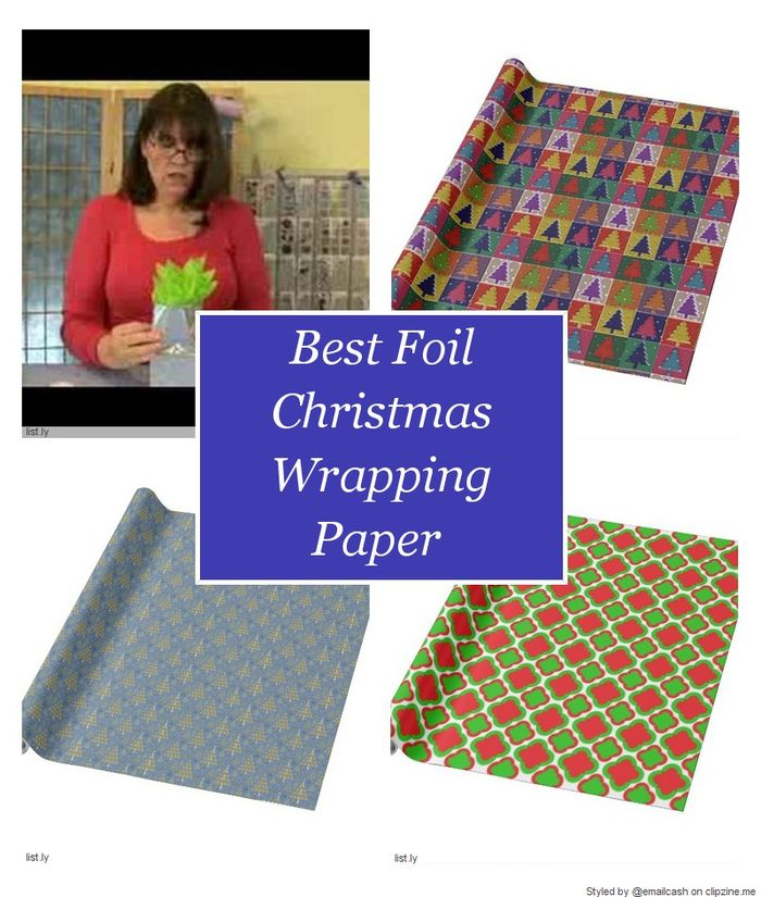 Best foil christmas wrapping paper a listly list for Best christmas wrapping paper