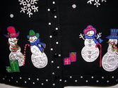 Plus Size Ugly Christmas Sweaters | Terazzo Christmas snowmen Ornaments Women's Sweater - S-M-L-XL-1X-2X-3X