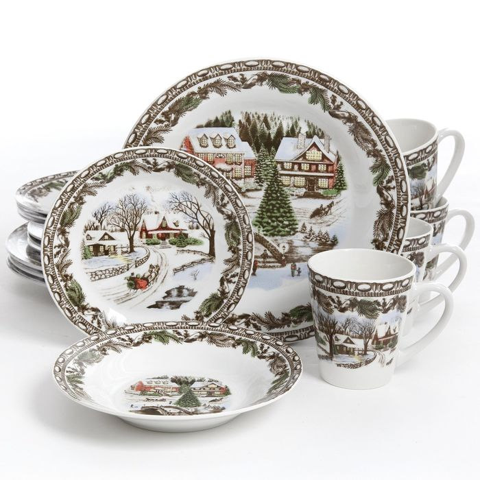Best-Rated Christmas Holiday Dinnerware Sets On Sale ... - photo#44