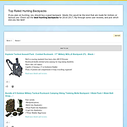 Best Rated Hunting Backpacks Reviews | Top Rated Hunting Backpacks