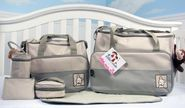 SoHo - Sage Diaper bag with changing pad 6 pieces set