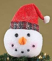 Snowman Head Tree Topper • Holiday Décor – Season Charm