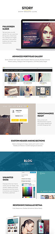 The Top 2014-2015 Wordpress Themes for Photographers | Story - Creative Responsive Multi-Purpose Theme