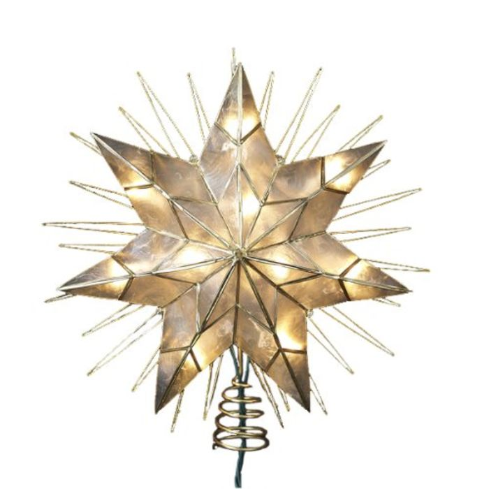 Unique Lighted Christmas Star Tree Toppers Ideas A
