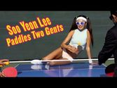 playboy on youtube : Table Tennis Champ Soo Yeon Lee Paddles Two Gents