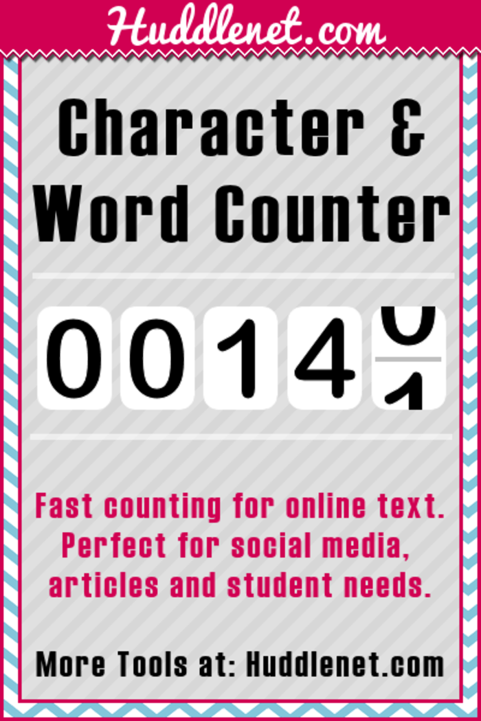essay word count tool Word count tool is a word counter that provides an extensive statistics about the word count, character count, the number of characters without spaces this tool is suitable to count words and characters in books, essays, novels, blogs, twitter, facebook statuses.