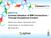 IBM Connect2013 Sessions On SlideShare | SPOT114: Increase Adoption of IBM Connections Through Exceptional Content