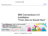IBM Connect2013 Sessions On SlideShare | IBM Connections 4.0 Installation - From Zero To Social Hero 1.16 fo...
