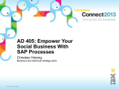 AD405: Empower Your Social Business With SAP Processes