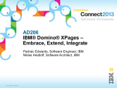 IBM Connect2013 Sessions On SlideShare | AD206: IBM Domino XPages – Embrace, Extend, Integrate