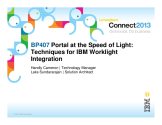 IBM Connect2013 Sessions On SlideShare | BP407: Portal at the Speed of Light - Techniques For IBM Worklight Integration