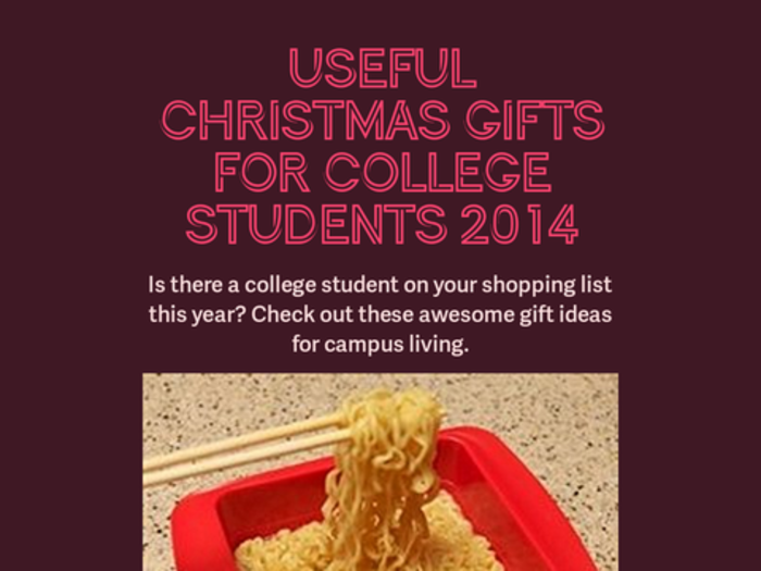 Top Christmas Gifts For College Students 2014