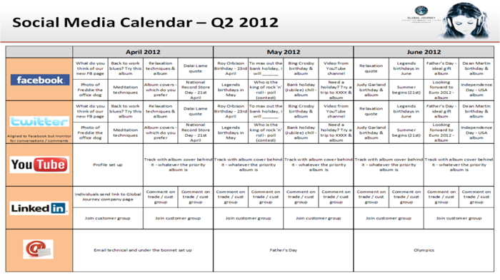 Great Social Media Content Calendar Template Ideas | A Listly List