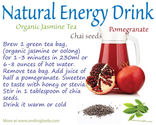 Fitbodybuzz.com's Favorite Homemade Healthy Energy Drinks | Pomegranate, Jasmin Tea and Chai Seeds Combo