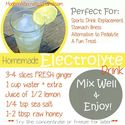 Fitbodybuzz.com's Favorite Homemade Healthy Energy Drinks | Homemade Electrolyte Drink Recipe