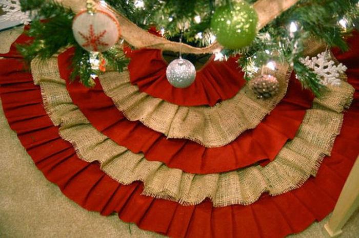 buy cheap burlap christmas tree skirts a listly list. Black Bedroom Furniture Sets. Home Design Ideas