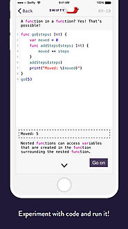 iPad Coding Apps for Students | Swifty - Learn how to code in Swift! on the App Store