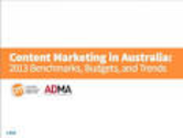 Content Marketing Research | Content Marketing in Australia: 2013 Benchmarks, Budgets, and Trends