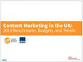 Content Marketing Research | Content Marketing in the UK: 2013 Benchmarks, Budgets, and Trends