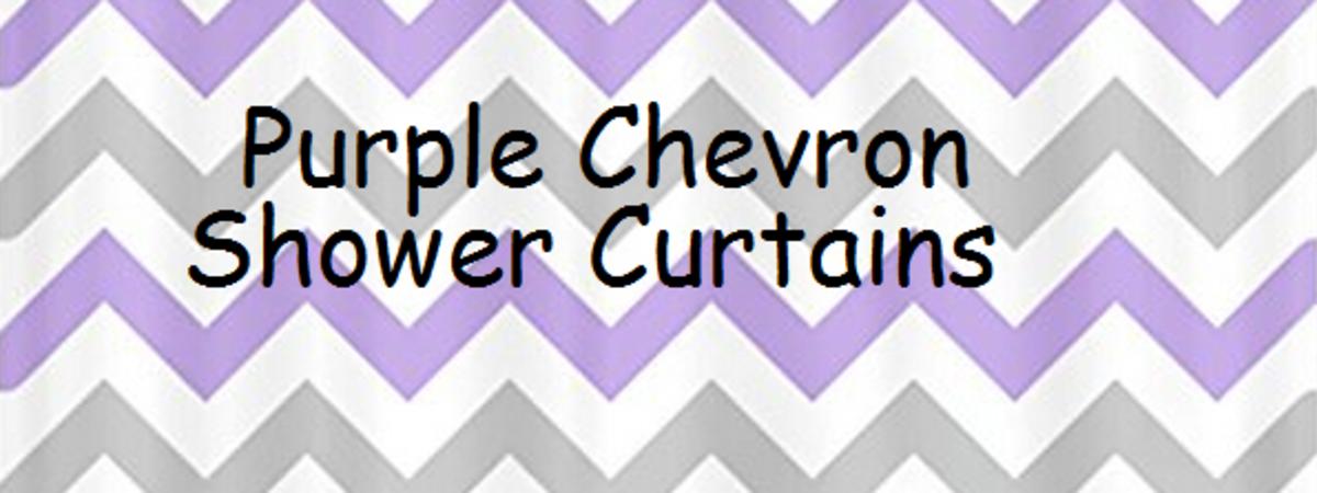 Awesome Purple Chevron Print Shower Curtain Designs | A Listly List