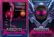 New PS3 Games - PlayStation | 80s-Drenched poster art of Far Cry 3: Blood Dragon