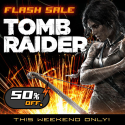 50 percent off ,sale on Tomb Raider ( PlayStation Network )