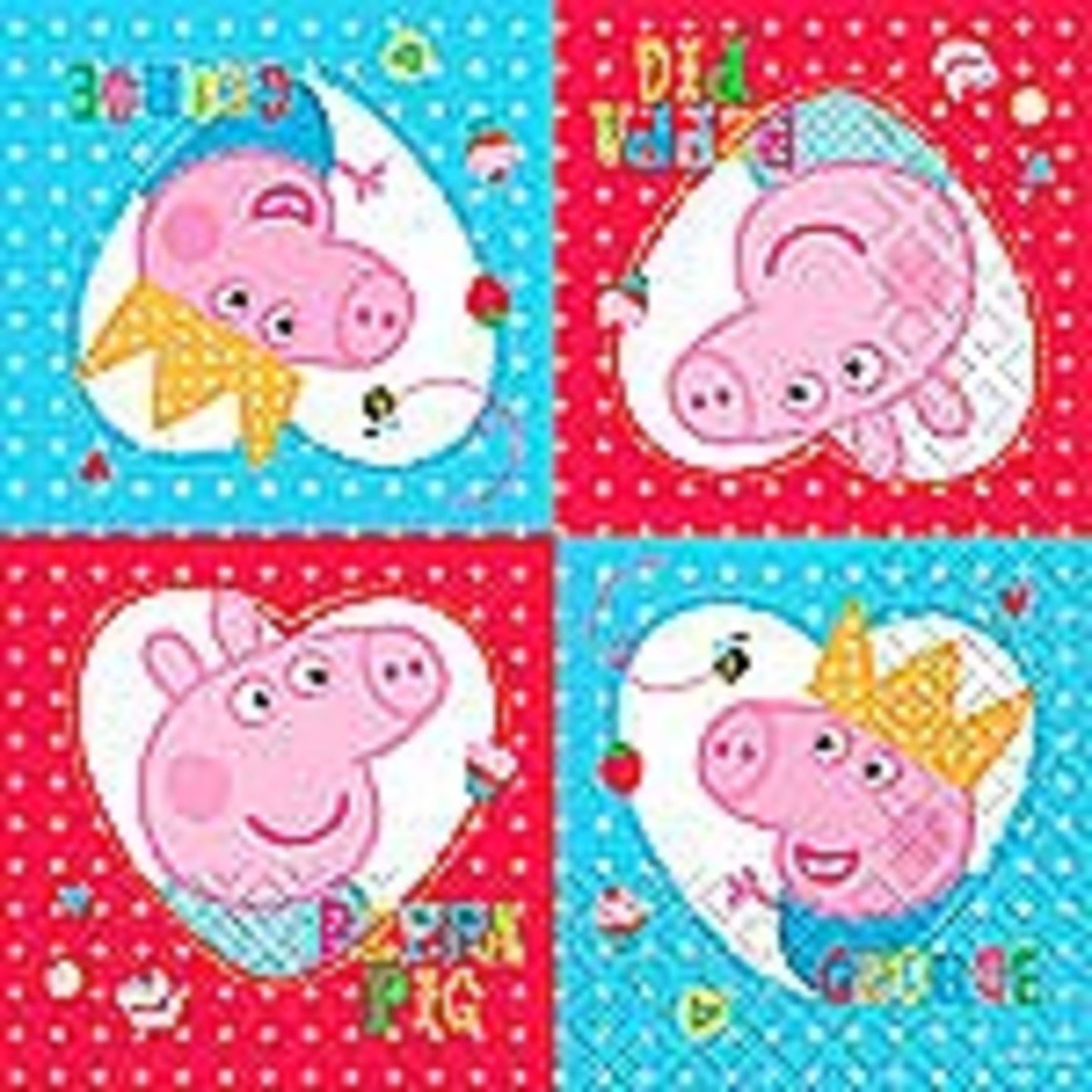 themes party magical decor products store supplies of decorations parties online set peppa pig napkin table napkins