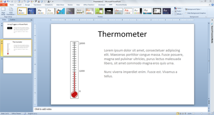 Powerpoint Thermometer Template