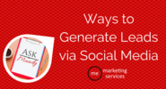 Ask Mandy Q&A - Your Social Media Marketing Questions Answered! | Ask Mandy Q&A: Ways to Generate Leads via Social Media - ME Marketing Services, LLC