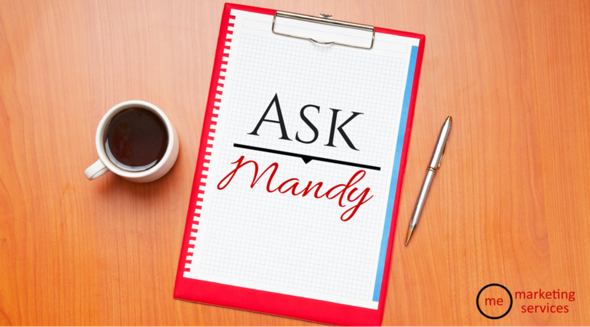 Headline for Ask Mandy Q&A - Your Social Media Marketing Questions Answered!